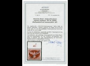 Feldpost MiNr. 10 Ab Platte II, Oberrand, postfrisch, **, BPP Attest
