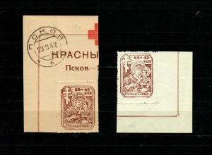 Dt. Besetzung Russland: Pleskau MiNr. 18X und 18Y, postfrisch, **