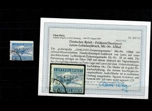 Feldpost MiNr. 11BaI, gestempelt März 1945, BPP Befund