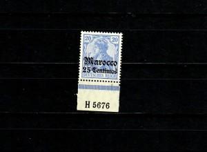 Dt. Post in Marocco MiNr. 37c, Unterrand Aufdruck-HAN, postfrisch **