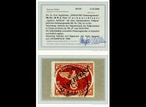 Feldpost MiNr. 10 B d, Platte I/1, gestempelt 10.2.1945, BPP Befund