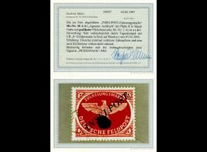 Feldpost MiNr. 10 A b, Platte II, gestempelt 07.2.1945, BPP Befund