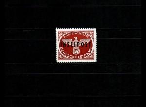 Feldpost MiNr. 9, postfrisch, BPP Signatur