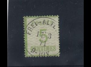 NDP Okkupation: 1870: MiNr. 4 IIaa, gestempelt, signiert