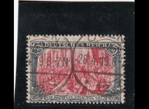 Deutsches Reich: MiNr. 97M, gestempelt mit BPP Attest