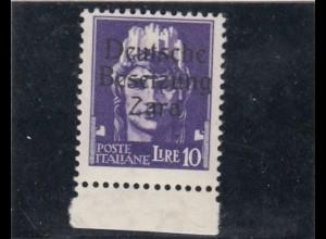 Zara: MiNr. 16 II, postfrisch