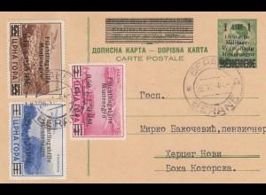 Besetzung Montenegro: MiNr. 20-28, P1, gestempelt, Attest Krischke