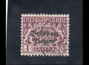 Bayern: D43y, gestempelt und geprüft Infla