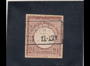 Deutsches Reich: MiNr. 21b, gestempelt, BPP Attest