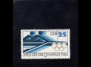 DDR: MiNr. III, **, Olympische Spiele Los Angeles 1984, BPP Attest, selten