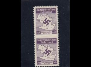 Besetzung II. WK: Sudetenland, **, MiNr. II UM, Niederland