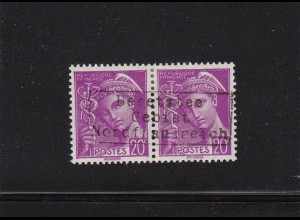 Dt. Besetzung Frankreich: Dünkirchen: MiNr. 10 II im Paar, BPP signiert, *
