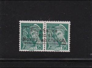 Dt. Besetzung Frankreich: Dünkirchen: MiNr. 11 II im Paar, BPP sign. *