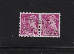 Dt. Besetzung Frankreich: Dünkirchen: MiNr. 16 II im Paar, BPP sign. *