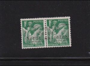 Dt. Besetzung Frankreich: Dünkirchen: MiNr. 20 II im Paar, BPP sign. *