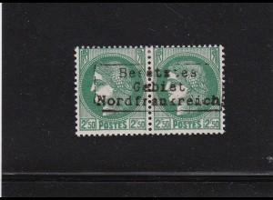 Dt. Besetzung Frankreich: Dünkirchen: MiNr. 27 II im Paar, BPP sign. *