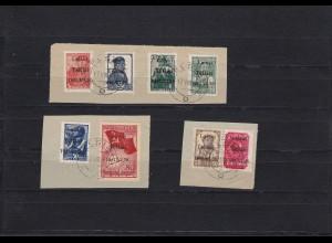 Bes. II. WK: Litauen Telschen: MiNr. 1-8, Briefstück, Signiert