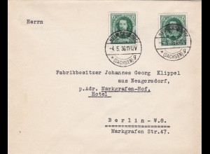 III. Reich: MiNr. 608 FDC von Neugersdorf nach Berlin