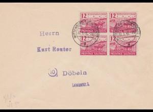 SBZ: MiNr. 86 waB, auf Brief, Wittenberg 1946