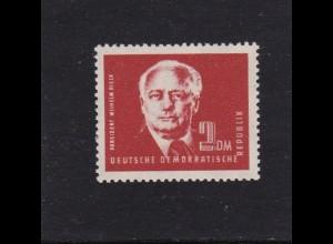 DDR: MiNr. 254 C, postfrisch, Dunkelrot, Pieck I, 1952