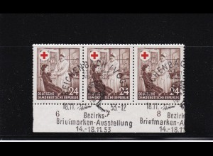 DDR: MiNr. 385 I, gestempelt vom Unterrand, 1953