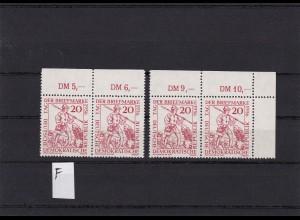 DDR: MiNr. 544 I-VI, VIII, IX, postfrisch, **