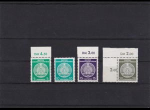 DDR: MiNr.D18, 19, 21, 22II XII, postfrisch