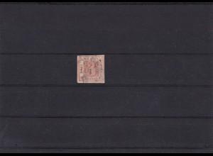 Sachsen: MiNr. 1a, Platte III, Typ 8, gestempelt, BPP Befund