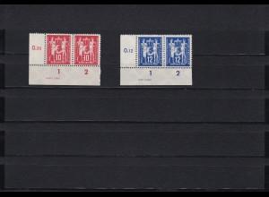 DDR: MiNr. 243 - 244, Druckvermerk, **, 243 IV, Eckrand