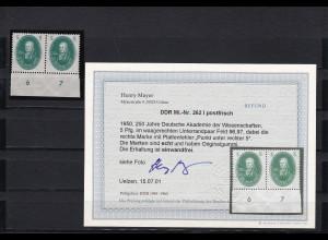 DDR: MiNr. 262 I, postfrisch vom Unterrand