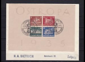 Deutsches Reich - Block 3, Sonderstempel Ostropa 1935, BPP Attest