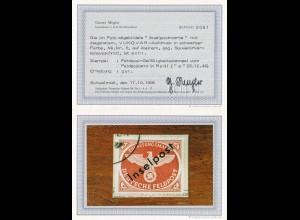 Feldpost MiNr. 6, Inselpostmarke, Vukovar Aufdruck, BPP Befund