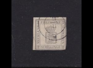 Mecklenburg-Schwerin 1867: MiNr. 6b, gestempelt