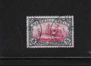Marshall Inseln: 1901, MiNr. 25 - 5 Mark, gestempelt, BPP Fotoattest