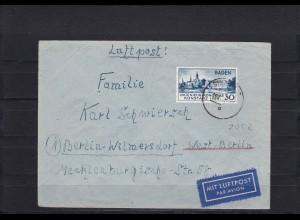 Baden: MiNr. 46 II auf Brief mit BPP Fotoattest