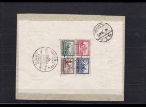 Deutsches Reich: Block 1 auf Brief