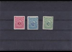 DOA: Afrikanische Seen Post, Schülke&Mayrs, 5a, 5c, 5d, postfrisch, geprüft