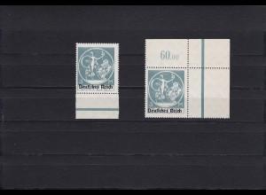 Deutsches Reich: MiNr. 134 PFIv, und X VII, postfrisch