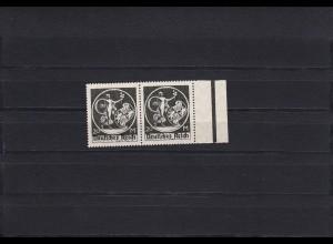 Deutsches Reich: MiNr. 138 I und II, waagrechtes Paar, **