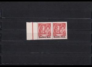Deutsches Reich: MiNr. 135 PF XV II, postfrisch, waagrechtes Paar
