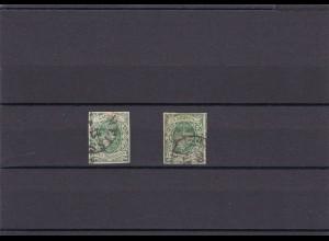 Sachsen: MiNr. 2 II a und b, gestempelt, BPP Signatur