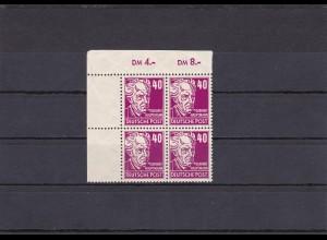 SBZ: MiNr. 223 d, postfrisch, Eckrand Viererblock