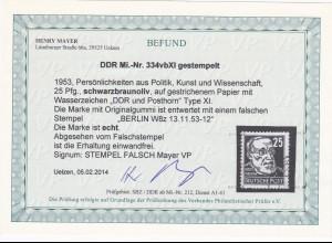 DDR: MiNr. 334 vb XI, gestempelt