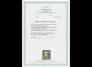 DDR: MiNr. 334x XI, Plattenfehler II, postfrisch, **