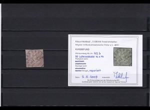 Württemberg: MiNr. 42b, gestempelt, BPP Befund