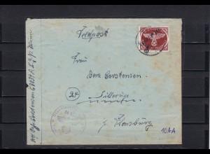 Feldpost MiNr. 10A auf Brief nach Flensburg 1945, FPNr. 08033A