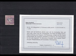 Württemberg: MiNr. 42b, gestempelt