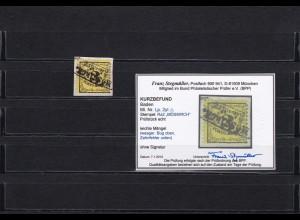 Baden: MiNr. LP. 2yl, Briefstück, gestempelt, BPP Befund