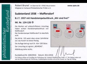 Sudetenland: MiNr. 124-126, Maffersdorf