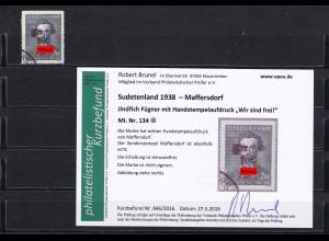 Sudetenland 1938- Maffersdorf: MiNr. 134, gestempelt
